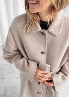 Wool Blend Oversized Long Coat - Light Beige - Woolcoats - & Other Stories Long Coat Outfit, Beige Coat, Fashion Story, Wool Coat, Winter Coat, Wool Blend, Winter Outfits, Light Beige, Autumn Fashion