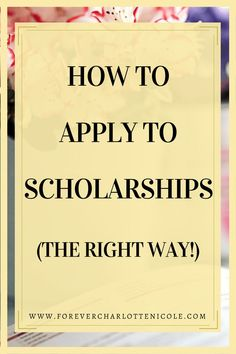 There are plenty of scholarships out there to help students fund their college education. This post covers how to apply to them the scholarships way. Scholarships For College Students, School Scholarship, Grants For College, College Majors, Financial Aid For College, College Planning, Online College, Education College, College Tips