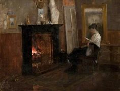 John Lavery, A Quiet Day in the Studio, 1883, Canvas, 41.9 x 52.1, Glasgow Art Gallery.