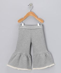 gray ruffle pants - make out of sweatshirt material for colder weather