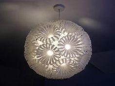 Lamparas hechas con material de reciclaje - decorando-interiores.com - Revista de decoración del hogar y oficina