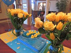 """Present Table 6""""Baby Shower"""" Rubber Duck Theme."""