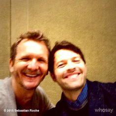 "mishapublic:"" Sebastian Roche""It's only love Mimi ? Sebastian Roche, Misha Collins, Supernatural, Castiel, Best Shows Ever, My Sunshine, I Love Him, Actors & Actresses, Fangirl"