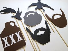Duck Dynasty Inspired Photo Booth - Duck Dynasty - Duck Commander - Beard On A Stick via Etsy