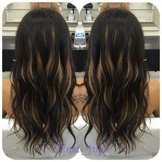 Peekaboo highlights. #peekaboo #hair #hairstylist