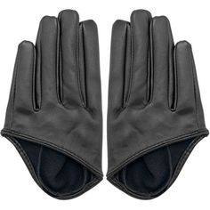 Yoins Half Palm Gloves in Black ($6.13) ❤ liked on Polyvore featuring accessories, gloves, yoins, перчатки, black, faux-fur gloves, real leather gloves, faux leather gloves, party gloves and leather palm gloves