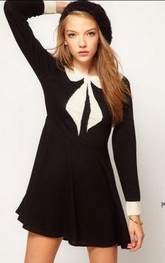 Fashion Bow-tie Prints Knited Dress-$21.90 FREE SHIPPING