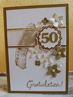 Stempelitis, 50, Geburtstag, Hochzeit, Jubiläum, Stampin up, Karte