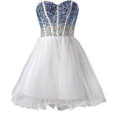 MisDress Sweetheart Dresses Homecoming Dresses Blue Dresses