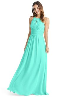 2fe9a366491 AZAZIE BONNIE. Bonnie is a floor-length chiffon bridesmaid dress in an A-