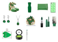 """""""Barcelona-Green-Fashion-Women #6"""" by ibur-7snowflakes ❤ liked on Polyvore featuring beauty, Rupert Sanderson, Lands' End, Karen Millen, Music Notes, Bling Jewelry, Palm Beach Jewelry, MAC Cosmetics, Burberry and Comme des Garçons"""