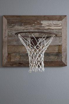 Reclaimed basketball backboard