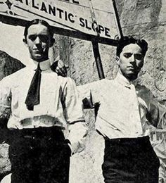 Stan Laurel and Charles Chaplin...
