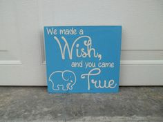 We Made A Wish And You Came True 10x10 Wood by TheCraftyGeek86, $17.50