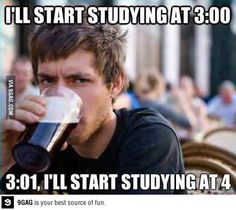My studying schedule
