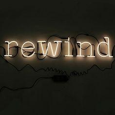 Neon Wall Art - Rewind by Seletti | MONOQI