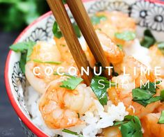 This Coconut Lime Shrimp is cooked in the most amazing sauce ever! I literally could have drank the entire container of sauce on its own.