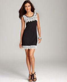 Style Dress, Sleeveless Lace Shift - Womens Dresses - Macy's