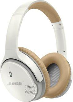 Bose® - SoundLink® Wireless Around-Ear Headphones II - White - Front_Zoom White Headphones, Best Headphones, Over Ear Headphones, Noise Cancelling Headphones, Bluetooth Headphones, Bose, Audio Hifi, Moto Suzuki, Philips