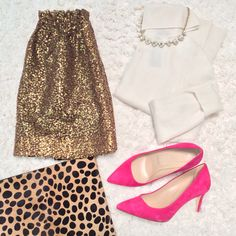 Holiday Party or New Years Eve Outfit: Gold Sequins and Cashmere - Stylish Petite Winter Outfits, Nye Outfits, New Years Eve Outfits, Gold Sequin Skirt, Sequin Outfit, Gold Sequins, Holiday Party Outfit, Holiday Outfits, Stylish Petite