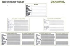 Free family history forms for you to download and print