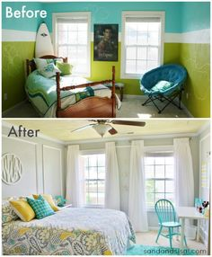 Teen Room Makeover – Sand and Sisal – Before and Afters Remodel Ideas Bedroom Makeover Before And After, Teen Room Makeover, Teen Bedroom, Dream Bedroom, Bedroom Decor, Home Staging, Virtual Staging, Living Room Remodel, Home Decor