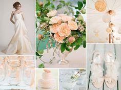 pale peach wedding inspiration  #peach #coral #wedding