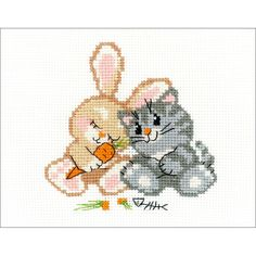 """Peace, Love And Carrot Counted Cross Stitch Kit - 6.25"""" x 5"""" 14 Count"""