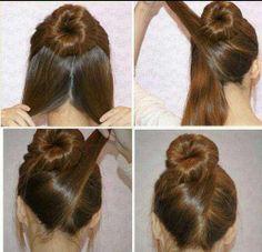 Criss Cross Bun #hair #bun