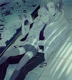 Black Butler Kuroshitsuji Claude and Alois Trancy (yaoi) kiss