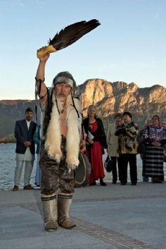 Angaangaq Lyberth. Shaman and noted speaker of the Kalaallit Inuk people of Greenland.
