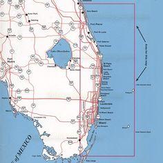 Map Of Southeastern Florida Coast.37 Best Maps Of Bimini The South East Florida Coastline Images In