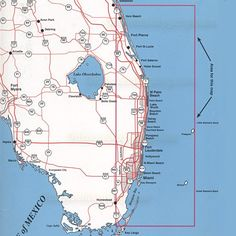South Florida East Coast Map Deboomfotografie - Florida map east coast