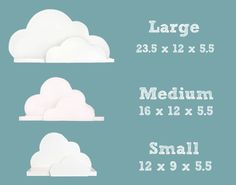 Cloud Shelf Collection Small Medium and Large por ShopLittles