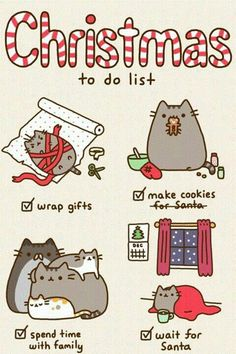 Pusheen's to do list for Christmas