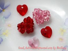 Tutorial : Heart Motif #1 Level : Beginner Technique : Crossweaving Equipment : - Crystal bicone 4mm - Seed bead 11/0 - Nylon thread no.25 This is not my design. I took it from my old Japanese bead book. Please choose your own colors. I use different colors here so that you can follow the…