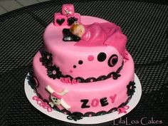 Skull Baby Shower Cake ...love this, so me AND that's our baby's name <3 :)