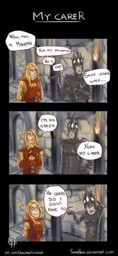 My Carer by ShiroHata on DeviantArt (Mairon and Melkor and a Doctor Who quote. This is awesome.)