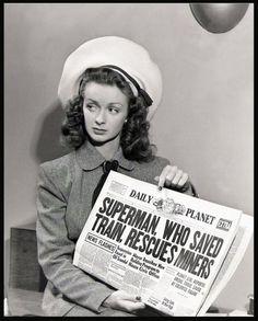 """Noel Neill as Lois Lane in """"Superman"""" (1948)"""