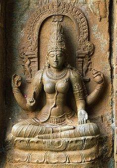 Sculpture of Saraswati at Shiva Temple