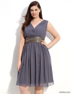 Knee high plus size dresses