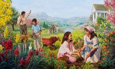 Siervos leales de Dios disfrutando de la vida en el Paraíso terrestre