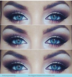 This is a good one which has some blue but also purple tones. The liner is lovely. It's a bit heavy, for bridal, in my opinion.
