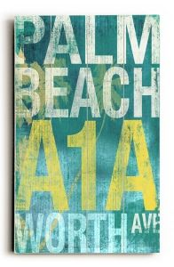Palm Beach Vintage Beach Sign