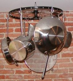 Bicycle Wheel Pot Rack