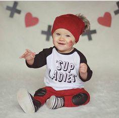 Toddler boy baby boy raglan baseball tee trendy by Our5loves