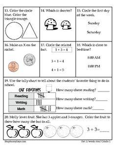 FREE Weekly Math Magic , First Grade image 3