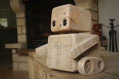 Robot en cubes de palettes.