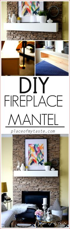How about building a nice, chunky mantel to add a unique look to your fireplace.. Come see how easy it is to DIY your mantel.
