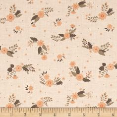 Flourish Flowers Light Peach from @fabricdotcom  Designed by Ciana Bodini, for Camelot Fabrics. This fabric is perfect for quilting, apparel and home decor accents. Colors include shades of peach and taupe.